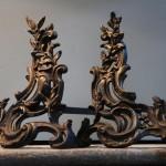 antieke vuurbokken louis XV